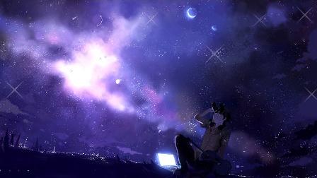 Заставка на рабочий стол Ночное небо
