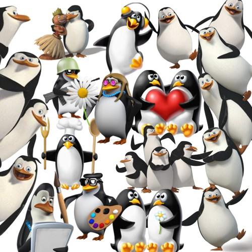 Весёлые пингвины - клипарт скачать бесплатно