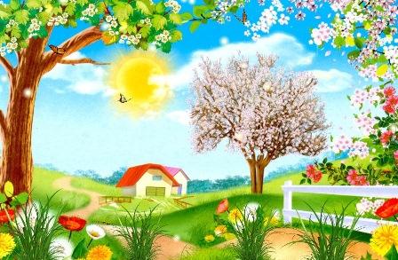 Анимированные обои - Весна скачать бесплатно