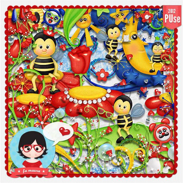 Скрап-набор Веселая пчелка скачать бесплатно