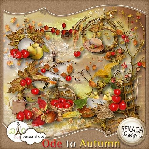 Скрап-набор Осень скачать бесплатно