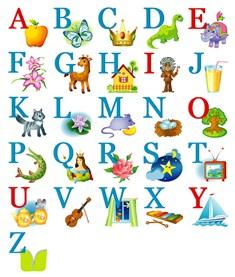 Английский алфавит с картинками скачать бесплатно