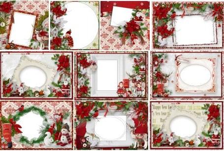 Рождество - рамки скачать бесплатно