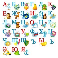 Русский алфавит с картинками скачать бесплатно