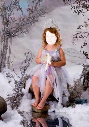 Шаблон для фото Снежная фея