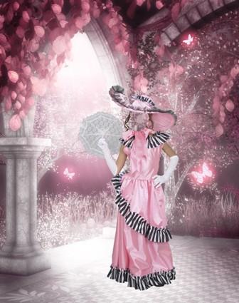 Шаблон для фото Розовое настроение