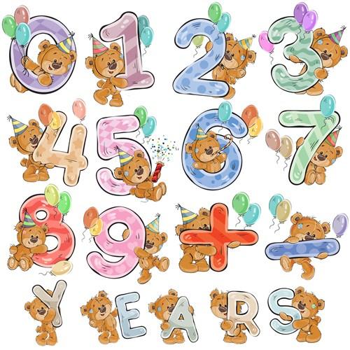 Мишка Тедди с цыфрами на День рождения