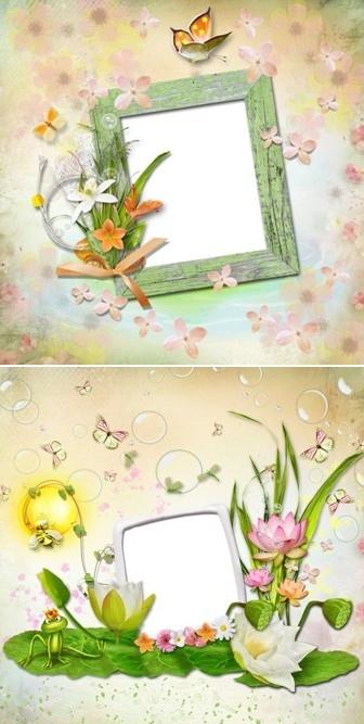 Цветочные рамочки