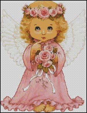 Схема - Ангел с розами