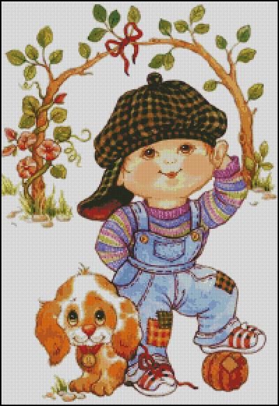 Схема - Мальчик и собака
