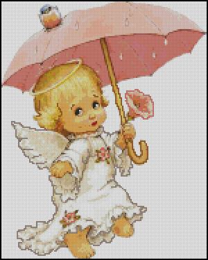 Схема - Ангел с зонтиком